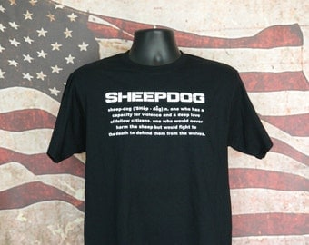 SHEEPDOG Definition Tee, police, military, law enforcement