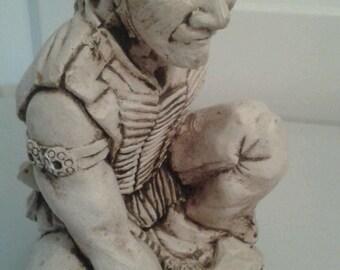Amazing Native American Sculpted Ceramic Figurine