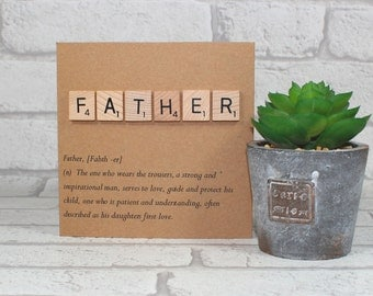 Father's day card - father definition card - card for dad - pops card - Dad card - Birthday card - father's day - greetings card
