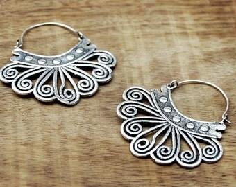 Tribal Earrings, Gypsy Earrings, Silver Earrings, Ethnic Earrings, Boho Earrings, Tribal Jewelry, Indian Jewelry, Belly Dance Jewelry