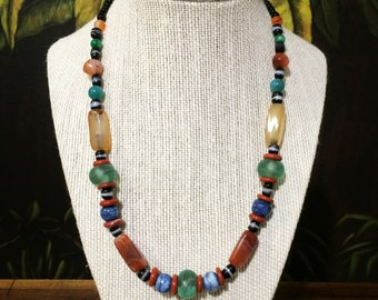 19'' Multi Colored Bead Necklace.