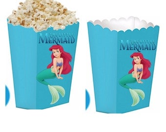 Little mermaid treat boxes