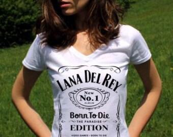 Lana Del Rey Shirts Lana Del Rey Shirt Lana Del Rey TShirt Born to Die Lana Del Rey Top V Neck Womens Clothing