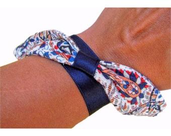 Fabric Paisley bracelet