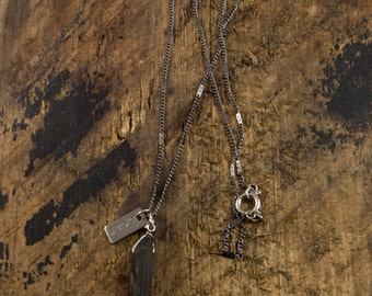 Black Magic Necklace, Men's Crystal Necklace, Healing Crystal Necklace, Men's Pendant Necklace, Men's Quartz Necklace, Bear Hardware