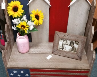 American Flag Bench