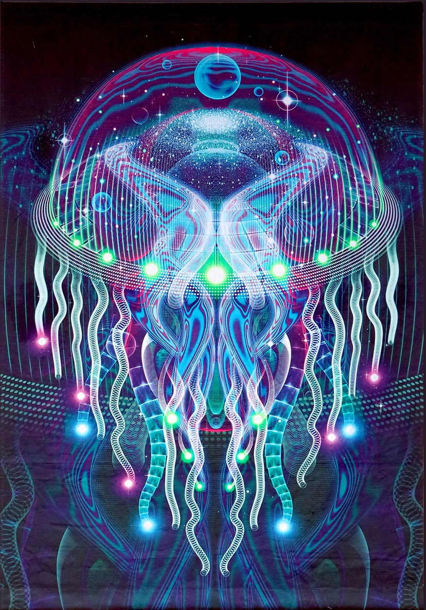 zebra psychedelia wall art - photo #21