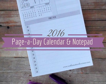 2016 Page-a-Day Calendar and Notepad - I Choose Organization