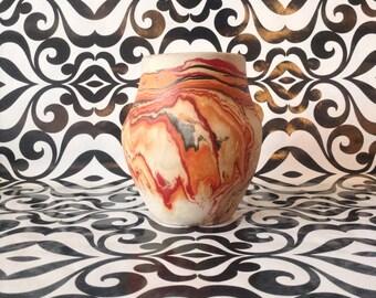 Vintage~Nemadji~Sunset Swirl~Vase~Native Clay~Pottery