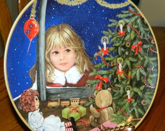 The Wonder Of Christmas~Vintage Plate~Kaiser Porcelain~Collector Plate~W Germany~First Edition~Decorative Christmas Plate~By Gerda Neubacher