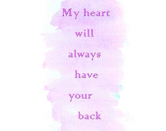 My Heart, Your Back
