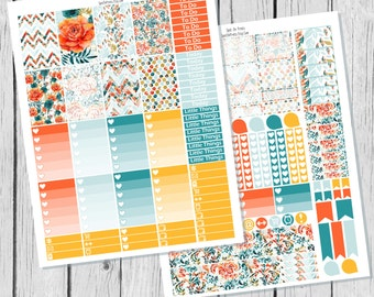 Fall Floral Planner Sticker Happy Planner Printable / Happy Planner Sticker Printable / Printable Planner Stickers / Fall Planner Stickers