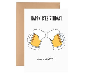 Happy Birthday Card - Beer
