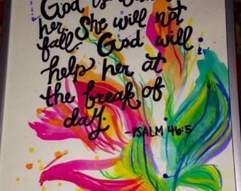 Bible Verse Canvas Paintings