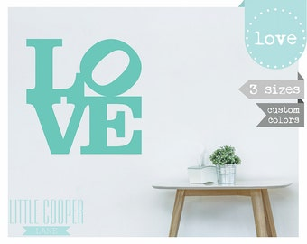 LOVE Design Wall Decal Vinyl Sticker_3 Sizes_35cm - 45cm - 58cm_For Nursery, Kids, Teens OR Any Room_ID#1297