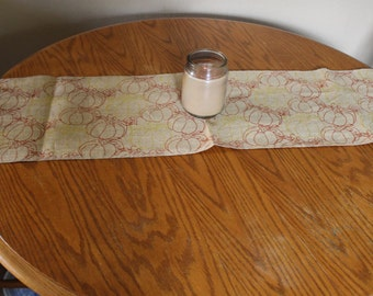 Thanksgiving Table Runner, Burlap Table Runner, Fall Table Runner, Pumpkin Table Runner