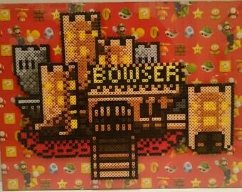 Framed Bowser Castle Pixel Art