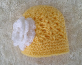 Baby Yellow Flower Beanie