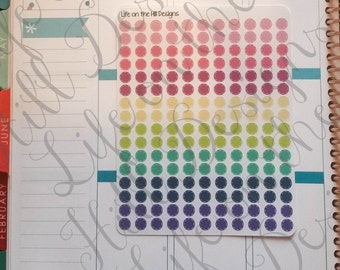 """Planner Stickers- BUJO Dashed Line Circles 1/4""""- 176 ct IC161"""