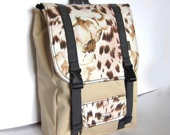 Pastel laptop backpack - Women's rucksack - City hipster backpack - Waterproof backpack - Ivory Beige backpack - Padded