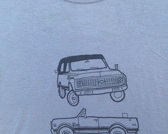 Chevy Truck Shirt- Chevy Truck Tee- Chevy Truck Gift- Chevy K5 Blazer- Sexual Humor- Funny- Hand Drawn Screen Print- Size Small
