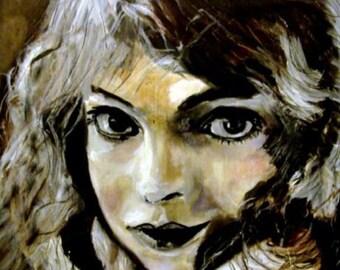 original   painting  Girl