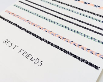 best friends - greeting card