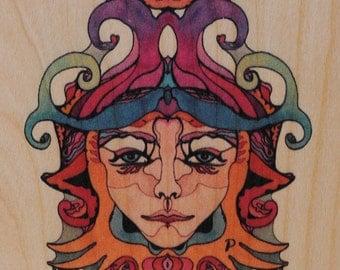 Wooden miniature demon Murtino Molio