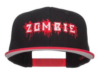 Bloody Zombie Embroidered Two Tone Snapback