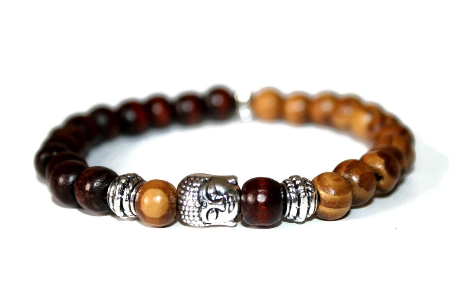 Buddha bracelet wood bracelet buddhist jewelry by zendelux for Zen culture jewelry reviews