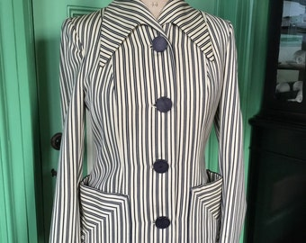 1940s Hollywood Jacket, Stunning design, great condition, beautiful silhouette, Youthmore original