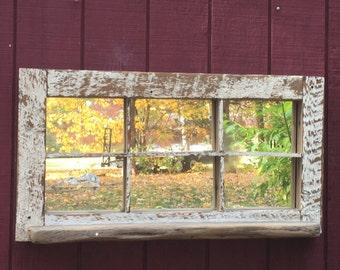 Reclaimed Wood Window Mirror