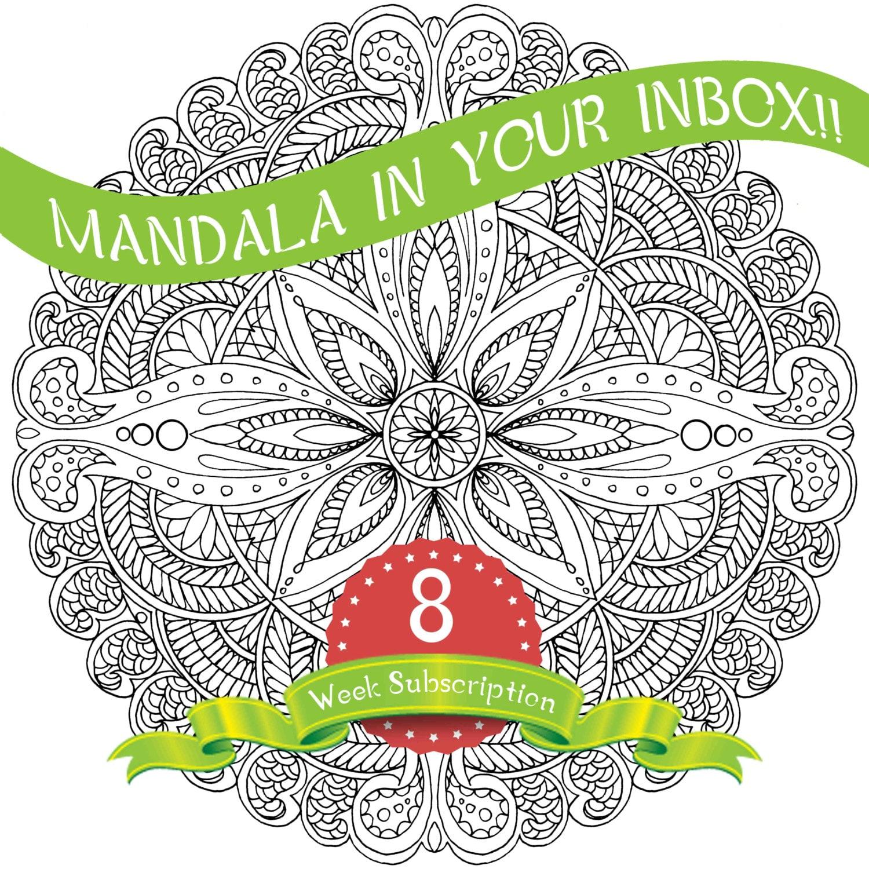 8 weeks mandala coloring pages subscription mandala Coloring book subscription