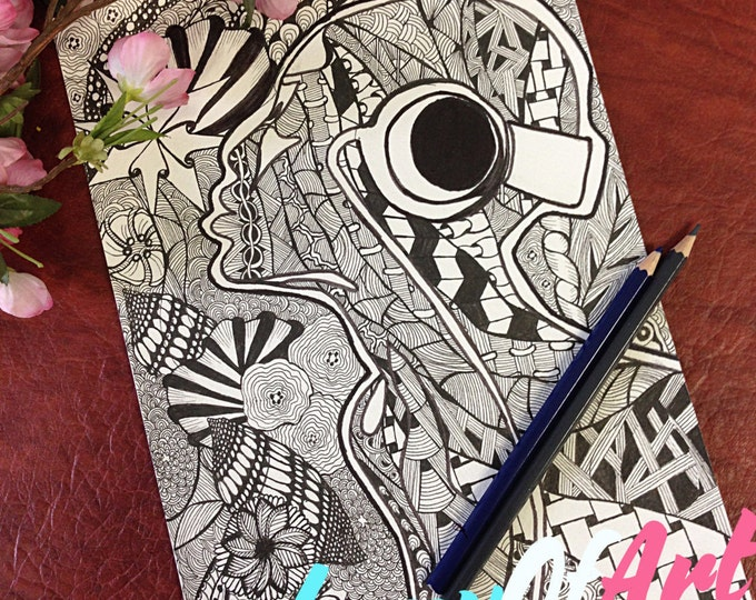 Adult Coloring Page, PDF Zentangle Coloring Page, Line art, Printable Coloring Page, coloring book, kids coloring page, colouring pictures
