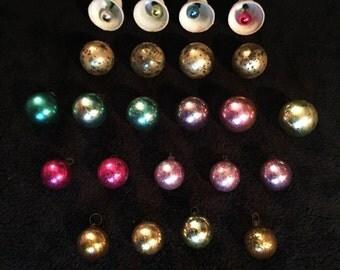 Vintage Miniature Balls and Bells Ornaments