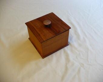 Cherry and Walnut lift box