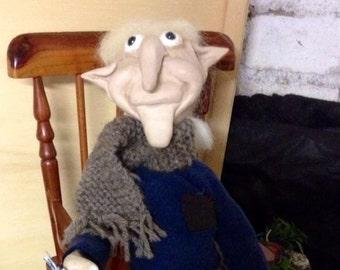 DAERON, OOAK Doll, handmade, polymer clay, elf, pixie, Pixie, Elf, troll, duendes, luck