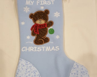 Little Boys' My First Christmas Stocking