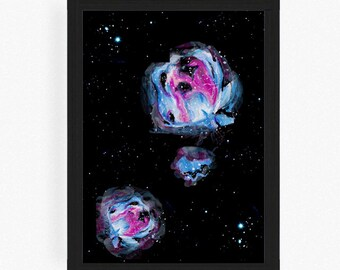 galaxy - space print - space - illustration - art - space poster