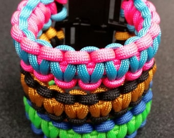 "Medium  (7.00"") - Custom Paracord Bracelet"