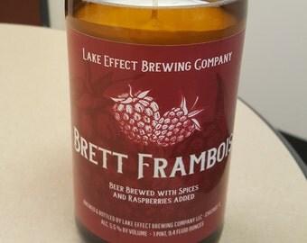 Lake Effect Brett Frambois - Sweet Raspberry - Wine Bottle Candle