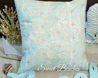 Rope Knot Print  Beach Pillow Covers Ocean Seaside Coastal Nautical Decor
