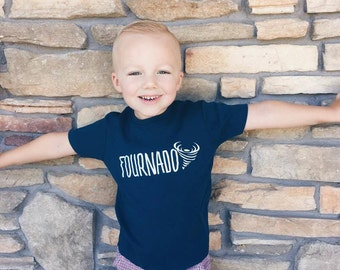 Fourth Birthday Shirt - 4th Birthday Shirt - Boy's Fourth Birthday Shirt - Four Year Old Shirt - Boy's Birthday Shirt - Fournado Shirt