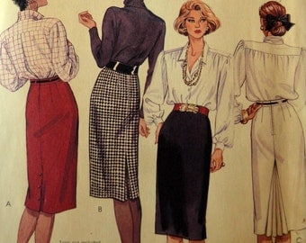 Uncut 1980s McCall's Vintage Sewing Pattern 3297, Size 6-8-10; Misses' Skirt