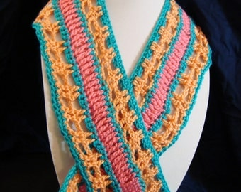 Orange, Pink and Blue Child's Scarf