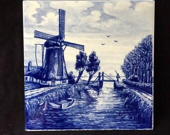 Vintage Delft Tile