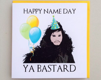 Game of Thrones Jon Snow Birthday Card
