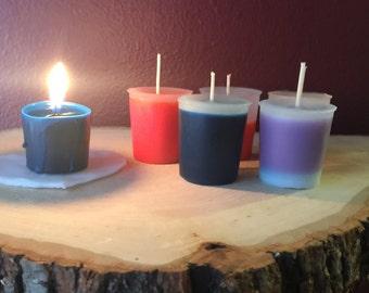 Patchouli scented votive candles set of six