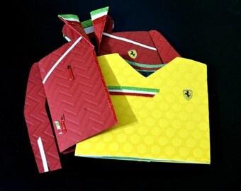 Ferrari Greeting Card/ Ferrari Jacket Greeting Card/ Ferrari Birthday card