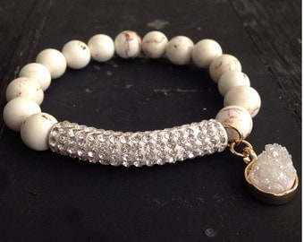 Bling Meets Gem Stone Bracelet